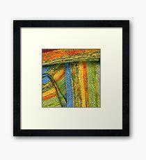 Knitted Stripes Framed Print