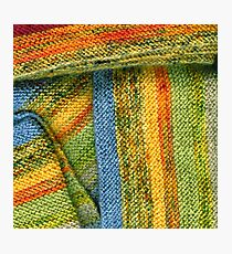 Knitted Stripes Photographic Print