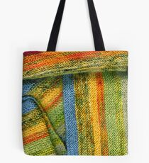 Knitted Stripes Tote Bag