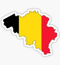 Belgium Flag Map Sticker
