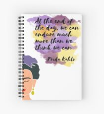 Frida Kahlo - We Can Endure Spiral Notebook