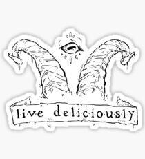 Live Deliciously Sticker