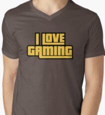 I Love Gaming Mens V-Neck T-Shirt