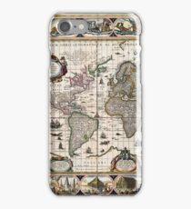 Map Nova totius terrarum orbis geographica (1635) iPhone Case/Skin
