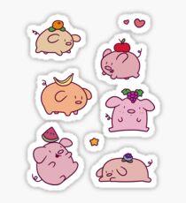 Fruit Piggies Sticker
