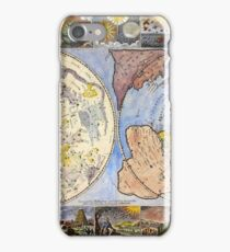 Map of the heavens and the earth (1683) iPhone Case/Skin