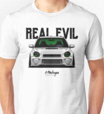 Real Evil. Subaru Impreza Unisex T-Shirt