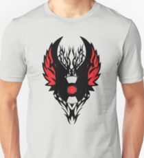 PUNK ROCK DJ Vinyl Record Art with Tribal Spikes and Wings  T-Shirt