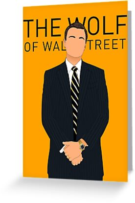 The wolf of wall street greeting cards by danielmartos redbubble the wolf of wall street by danielmartos m4hsunfo