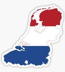 Netherlands Flag Map Sticker