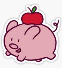 Apple Pig Sticker
