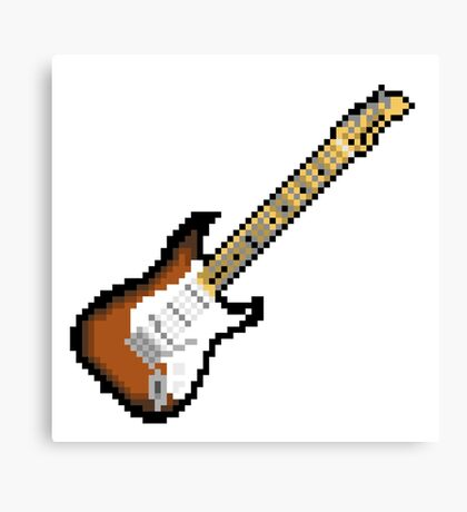 8 Bit Guitar Canvas Print