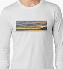 Nautical Golden Glow Cloud Sunset. Photo Art, Prints, Gifts. Long Sleeve T-Shirt