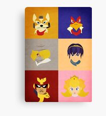 Smash Bros Melee Top Tier Faces Canvas Print