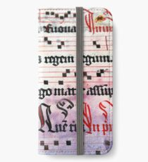Choral Book Middle Ages - Music Vintage iPhone Wallet/Case/Skin