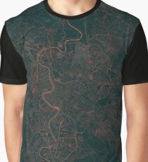 Rome Map Red Graphic T-Shirt