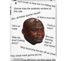 Jordan Sad in the Gym iPad Case/Skin