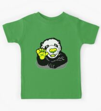 Happy Panda Cub Green Yellow Kids Clothes