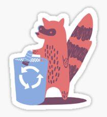 Recycling Raccoon Sticker