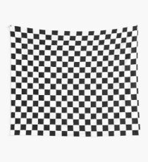 Black and White Checkerboard Wall Tapestry