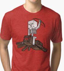 Minecraft Spider Jockey Tri-blend T-Shirt