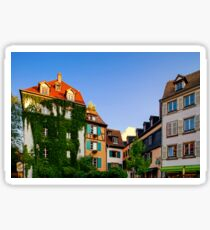 Classic colorized timber-framed alsacien houses in the street of Little France, Strasbourg, touristic concept Sticker