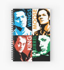 Moose, Squirrel, Wings and King. Spiral Notebook