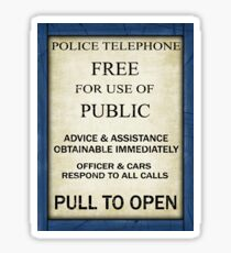 Free For Use Of Public - Tardis Door Sign, (please see notes) Sticker