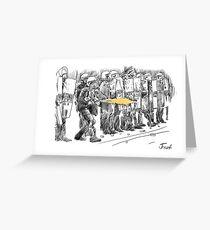 riot cops study Greeting Card