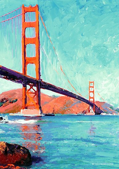 Golden Gate Bridge San Francisco California  by RDRiccoboni