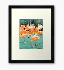 Flamingo's by RD Riccoboni Framed Print