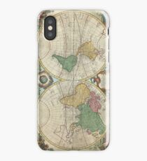 Vintage Map of The World (1744) iPhone Case/Skin