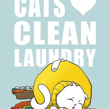 Cats love clean laundrey by strijkdesign