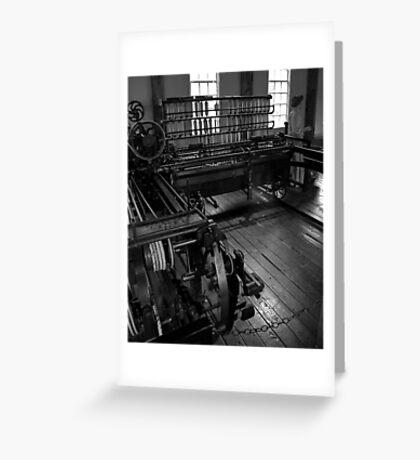 Inside Slater Mill Greeting Card
