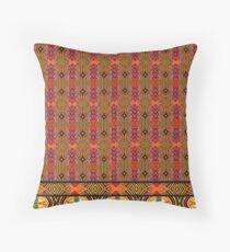 african wax print Throw Pillow