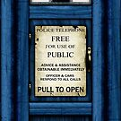 Free For Use Of Public - Tardis Door Sign - Samsung Phone Case by Ra12