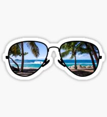 Palm Trees Through Sunglasses Sticker