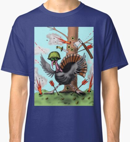 Funny Thanksgiving turkey drawing Classic T-Shirt