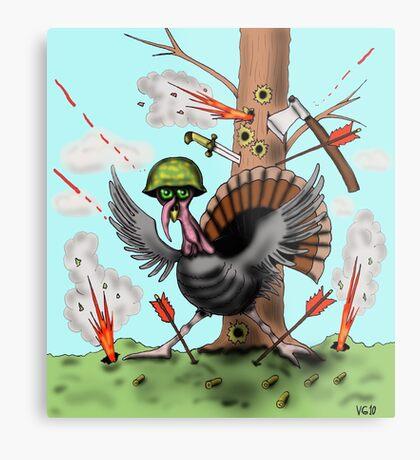 Funny Thanksgiving turkey drawing Metal Print
