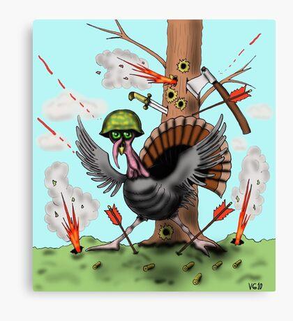 Funny Thanksgiving turkey drawing Canvas Print