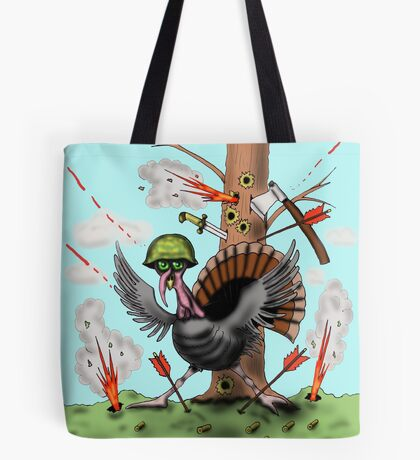 Funny Thanksgiving turkey drawing Tote Bag