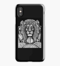 Spartan Lion black and white pen ink surreal drawing iPhone Case/Skin
