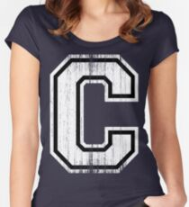 Big Varsity Letter C Women's Fitted Scoop T-Shirt