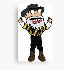 angry zombie yosef Canvas Print