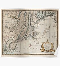 Old New England Map.Old New England Map Drawing Posters Redbubble