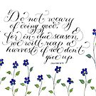 Don't give up inspirational verse by Melissa Goza