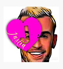I Heart Justin Photographic Print