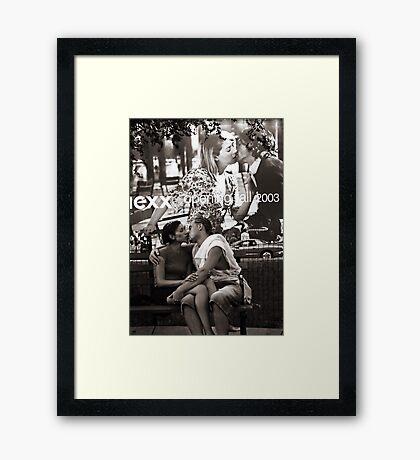 Kiss in the Park Framed Print