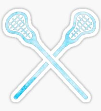 Lacrosse-Stock hellblau Sticker
