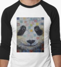 Panda Checkers Men's Baseball ¾ T-Shirt